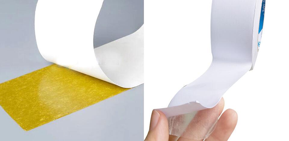 băng dính 2 mặt vàng dầu và trắng dầu