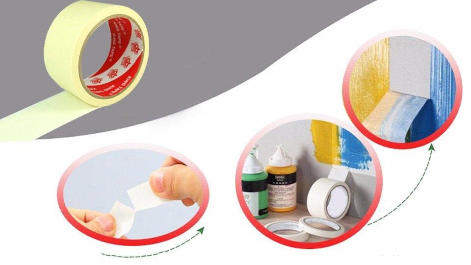 băng keo giấy nhăn dán và xé dễ dàng