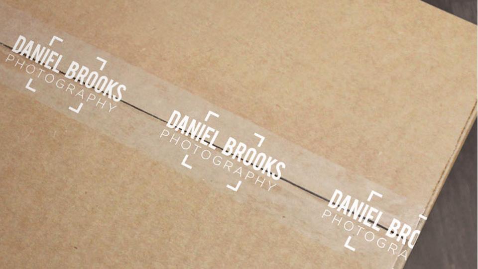 băng keo in chữ nền trong