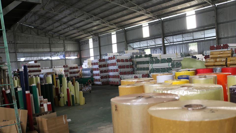 kho chứa vật liệu sản xuất